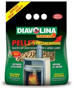 Pellet spazzacamino Diavolina X120 pulitore per stufa