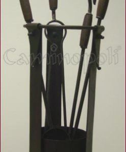 Set attrezzi 4+1 S187 in ferro battuto